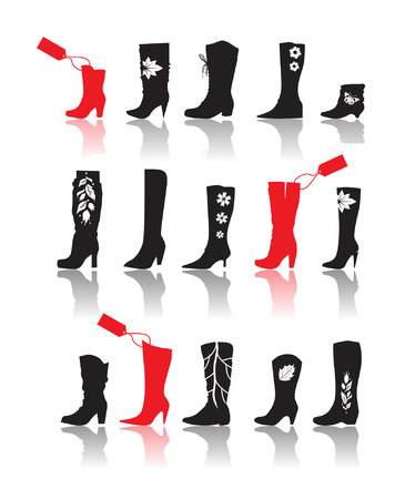Shoes silhouette collection for your design Stock Vector - 3771158