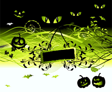 Halloween night background Vector