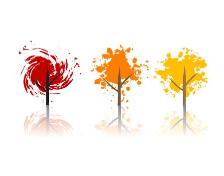 Art tree beautiful, grunge Stock Vector - 3816139