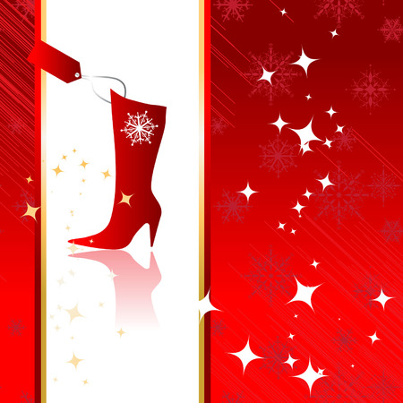 shoe sale: Christmas background for your design