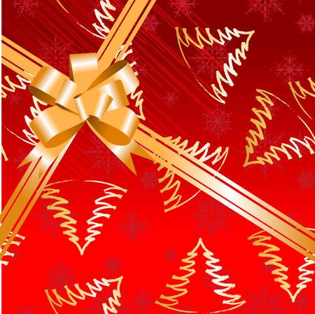 Gift bow ribbon Vector
