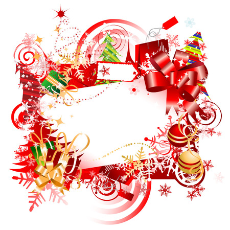 Christmas gift, frame with place for your text Stock Vector - 3837325