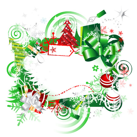 Christmas gift, frame with place for your text Stock Vector - 3837323