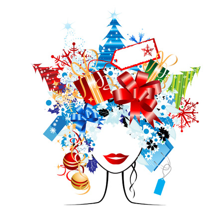 Christmas shopping, idea for your design Vector