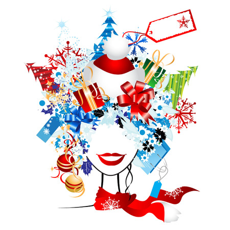 Christmas shopping, idea for your design Stock Vector - 3844771