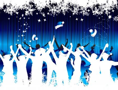 winter party: Natale yor fondo per la progettazione Vettoriali