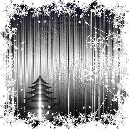 Christmas background retro for your design Vector