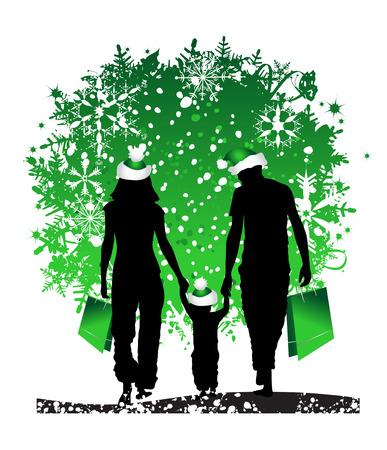 Christmas holiday, happy family Stock Vector - 3974475