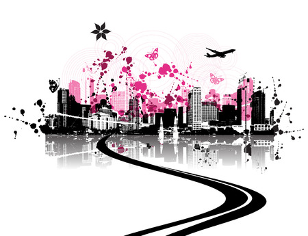 Cityscape background, urban art Stock Vector - 3974521