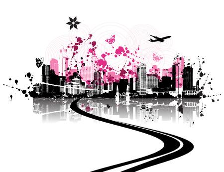 Cityscape background, urban art Stock Vector - 3974521