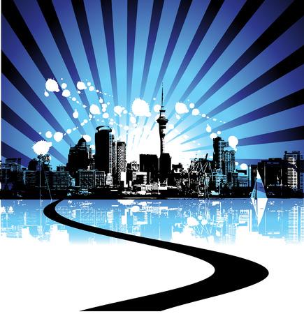Cityscape background, urban art Stock Vector - 3974471