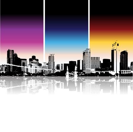 Cityscape achtergrond, stedelijke kunst Vector Illustratie