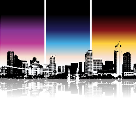 Cityscape background, urban art Stock Vector - 3974478