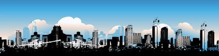 ray trace: Cityscape background, urban art