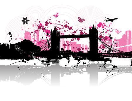 Cityscape background, urban art Stock Vector - 3974480