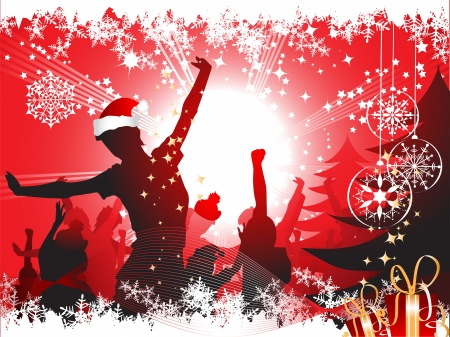christmas party people: Christmas party background