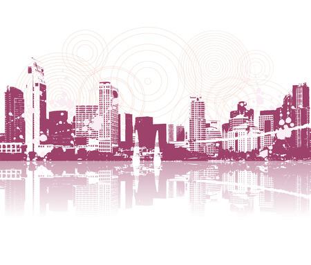Cityscape silhouette black for your design Stock Vector - 3981234