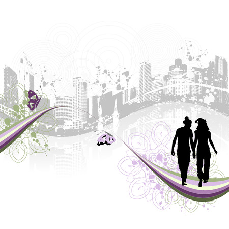 Cityscape background, urban art Stock Vector - 3974529