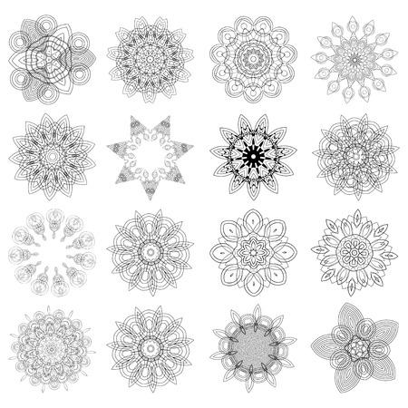 Set of design elements, flowers Vector