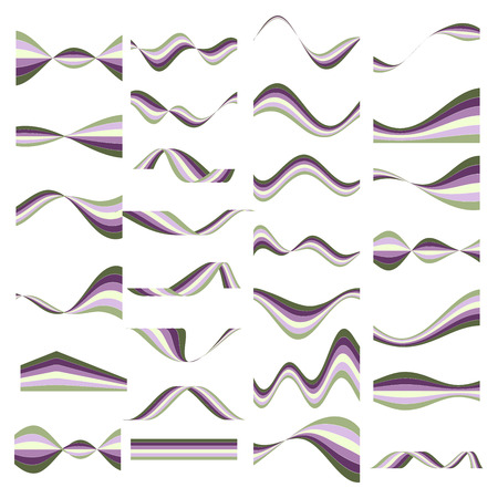 simplicity: Elements for your design, abstract waves Illustration