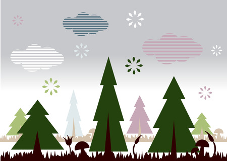 Nature landscape with trees Stock Vector - 3992118