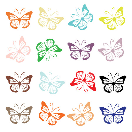 Butterfly set for your design Illustration