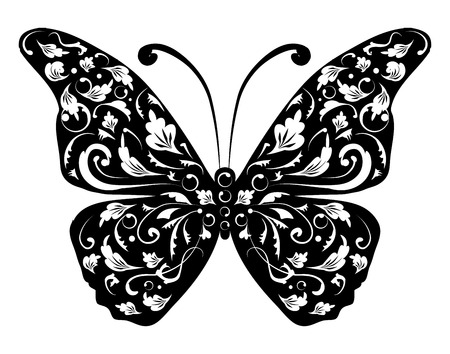 Butterfly silhouette for you design