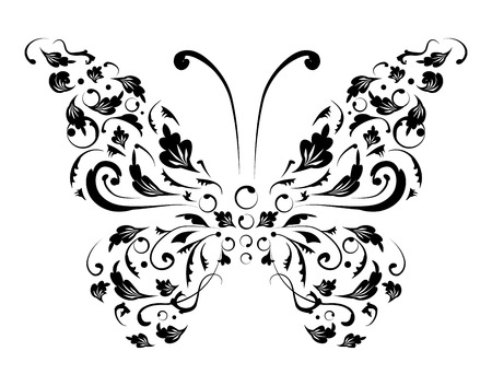 butterfly silhouette: Butterfly silhouette for you design