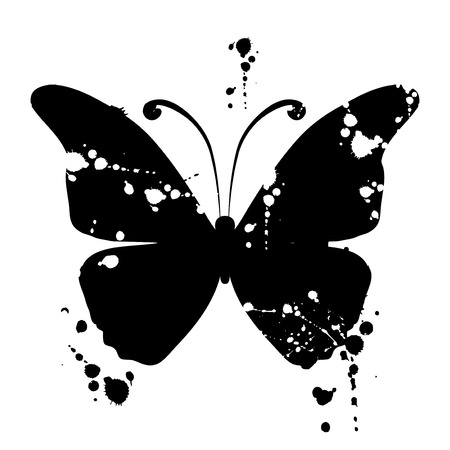 vector decoration: Butterfly silhouette for you design