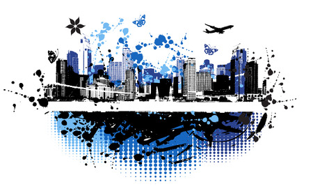Cityscape background, urban art Stock Vector - 4127892