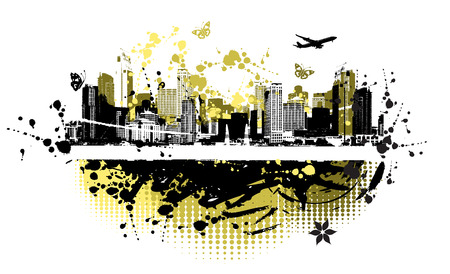 Cityscape background, urban art Stock Vector - 4127891