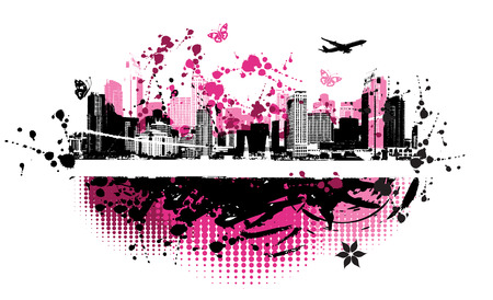 Cityscape background, urban art Stock Vector - 4127873