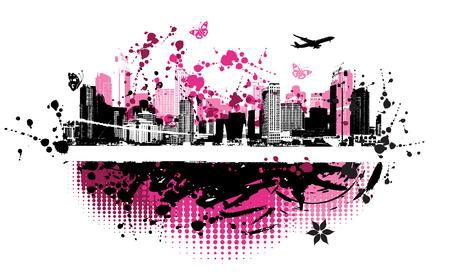 Cityscape background, urban art Stock Vector - 4127873