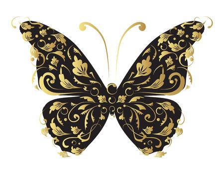 Butterfly, ornate for your design Ilustração