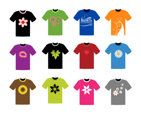T-shirt collection for your design Vector