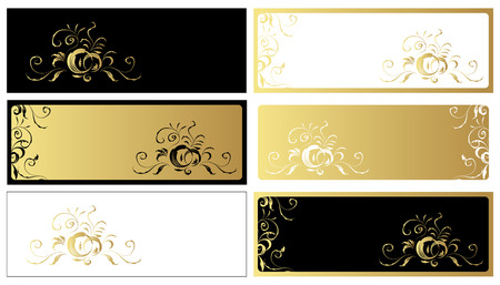 Vintage frame set for your design Vector