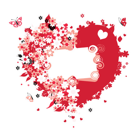 Floral heart shape for your design Stock Vector - 4230896