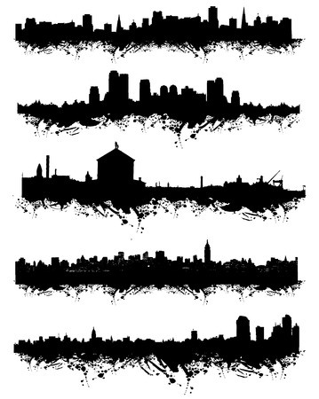 Grunge urban silhouette for your design Stock Vector - 4230921