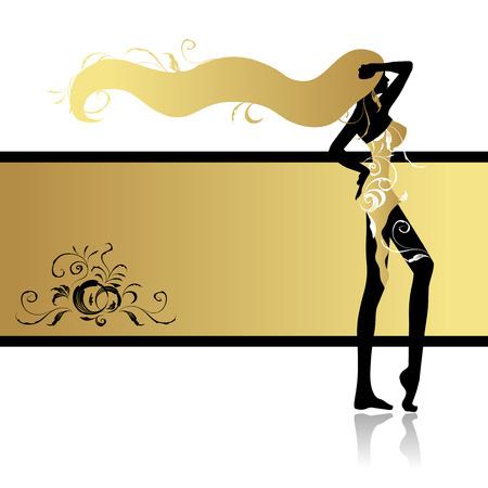 Fashion girl in dance Vector