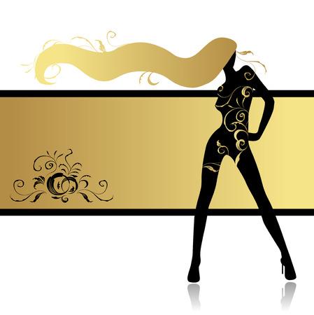 Fashion girl in dance Ilustração Vetorial