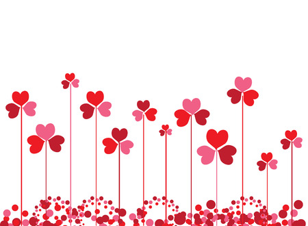 Clovers background for your design Vector