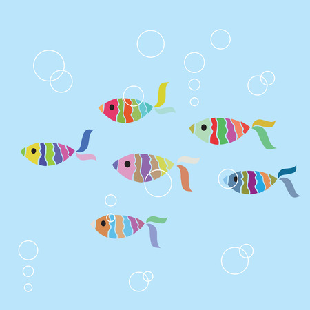 Fish seamless background Vector