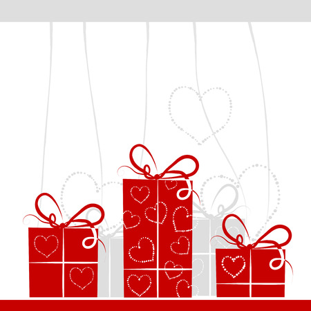 Gift boxes background for your design Vector