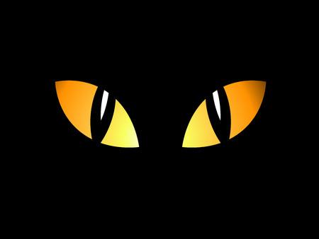 b�se augen: Augen in der Nacht Illustration
