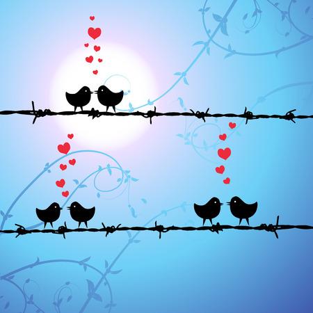 愛、枝にキスの鳥 写真素材 - 4412447
