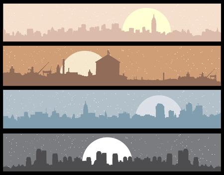 moon  metropolis: Cityscape background, urban art