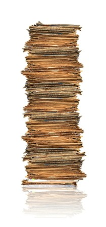 heap up: Heap of papers Stock Photo