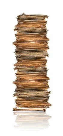 carpetas: Mont�n de papeles