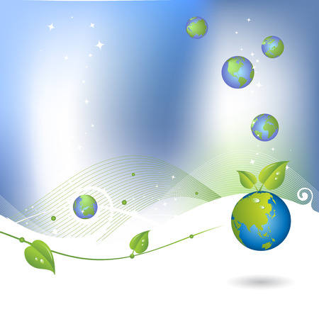 Environment background with globe icon Vector