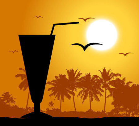sonnenschirm: Cocktail Party am Strand